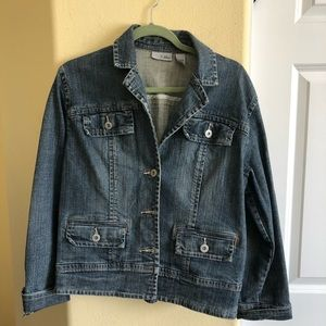 Chico's Platinum (2) L/12 Denim Jacket I Wore Once